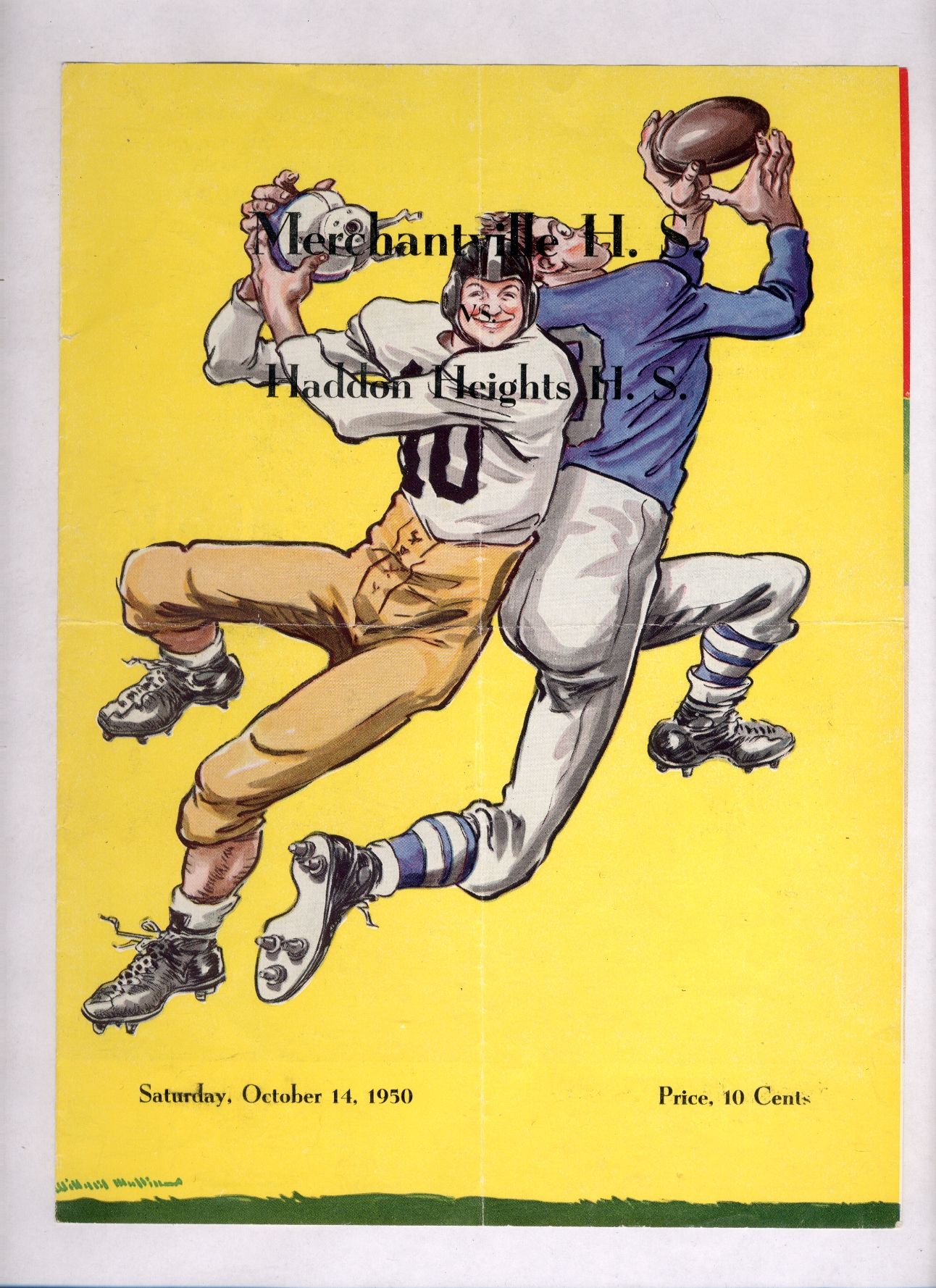 footballprogram-1950-10-14